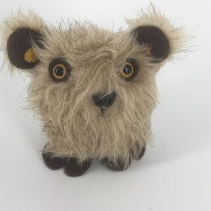 Handmade Cute Furry Monster Wood Sprite
